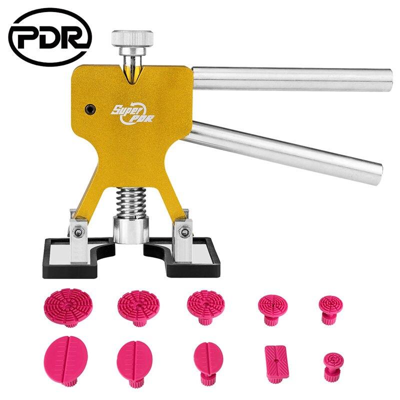 PDR инструменты безболезненные Инструменты для ремонта вмятин Набор для ремонта вмятин автомобильный вмятин Съемник с клеем Съемник вкладки набор для удаления автомобиля Авто - Цвет: Белый