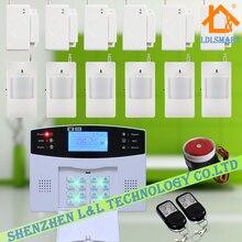 Беспроводная GSM Главная Охранной Сигнализации ЖК-Экран 99-Zone Авто набора Охранной Сигнализации с Голосовую Подсказку Комплект 6 Датчик Двери + 6 Датчик Движения