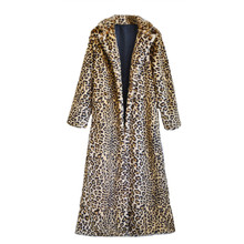 Pelliccia Donna Polka Dot Leopard Faux Fur Coat Winter Warm Fur Collar Jacket Fourrure Mex Windbreaker Long Coats For Women
