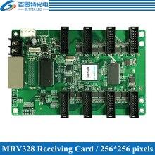 Novastar mrv328 led exibe o cartão de recepção, controlador de exibição led de cor cheia ao ar livre e interna