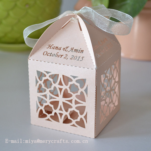Aliexpress.com : Buy sweet love heart favor boxes,laser cut peach ...