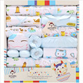 18 Piece 100% Cotton Newborn Gift Sets Autumn / Winter Character Thick  Girls Clothing Sets Baby Boy Infant Underwear Fit 0-12 M