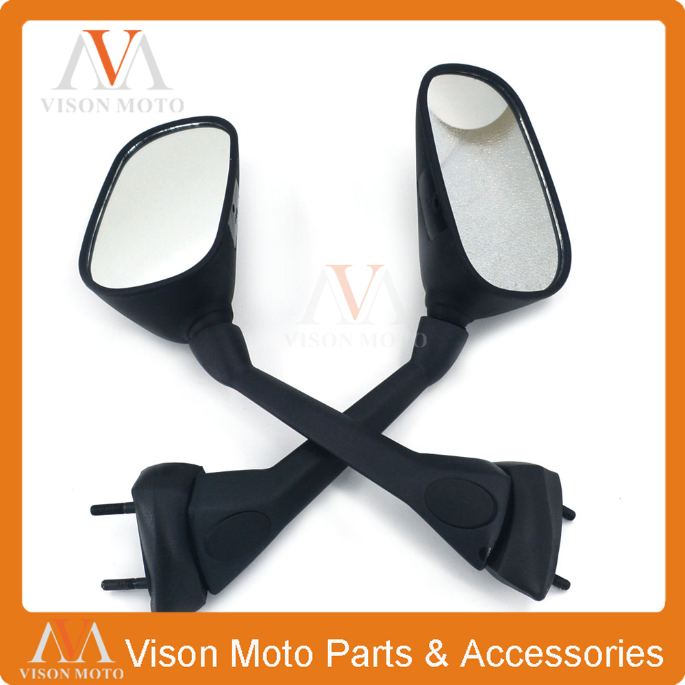 Motorcycle Side Mirror Rearview Rear View For YAMAHA FZ1 FAZER 2007 2008 2009 2010 2011 2012 2013 07 08 09 10 11 12 13 BLACK aftermarket free shipping motorcycle parts eliminator tidy tail for 2006 2007 2008 fz6 fazer 2007 2008b lack