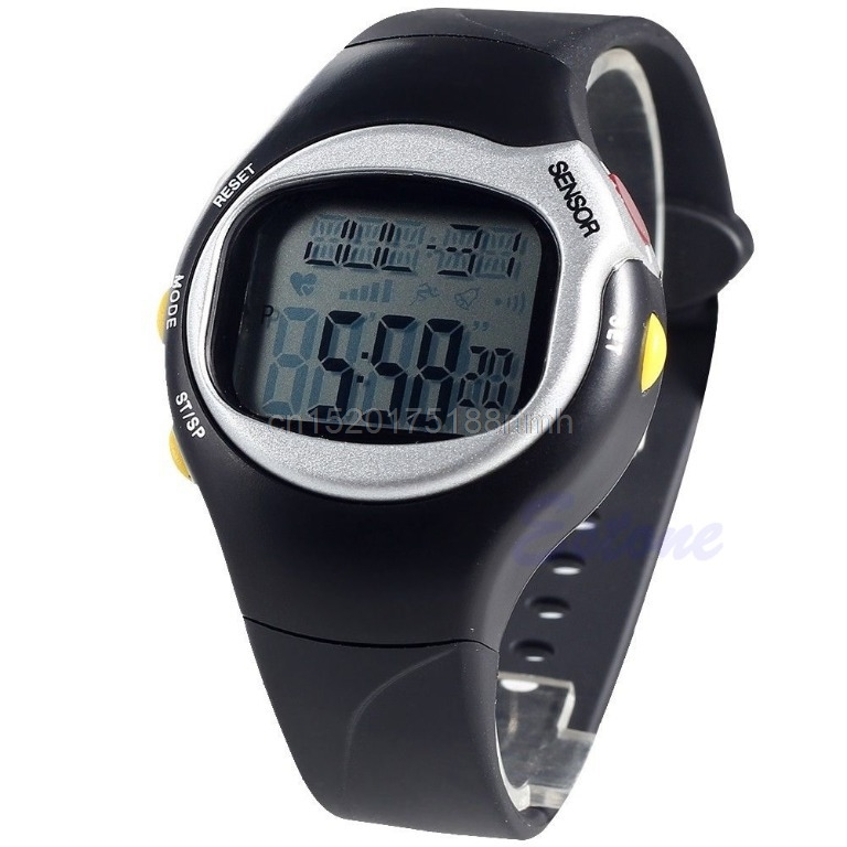 New Sports Running Pulse Heart Rate Monitor Pedometer Calories Counter Wrist Watch #T50P# Drop ship все цены