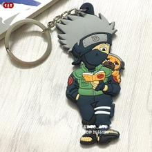 Exclusive cartoon anime Naruto ninja and his dog rubber key pendant chains high quality collectible gift
