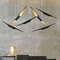 Replica Delightfull Coltrane modern creative oblique pendant Lamp e27x2 aluminum black+Gold color fashion restaurant lighting
