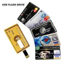 Étanche USB Flash Drive Pen Drive 4 GB 8 GB 16 GB 32 GB 64 GB banque Carte de Crédit Forme Memory Stick pendrive u disque flash carte