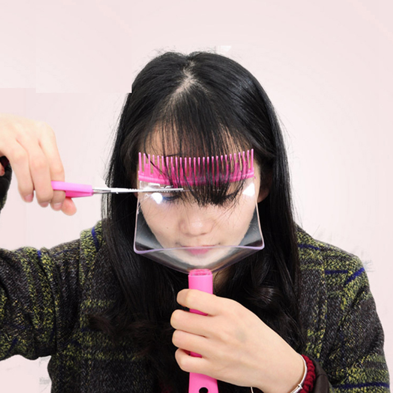 Professional DIY Hair Bangs Fringe Cut Comb Clip Fashion Portable Trimmer Hairstyle Typing Trim Tool #225027