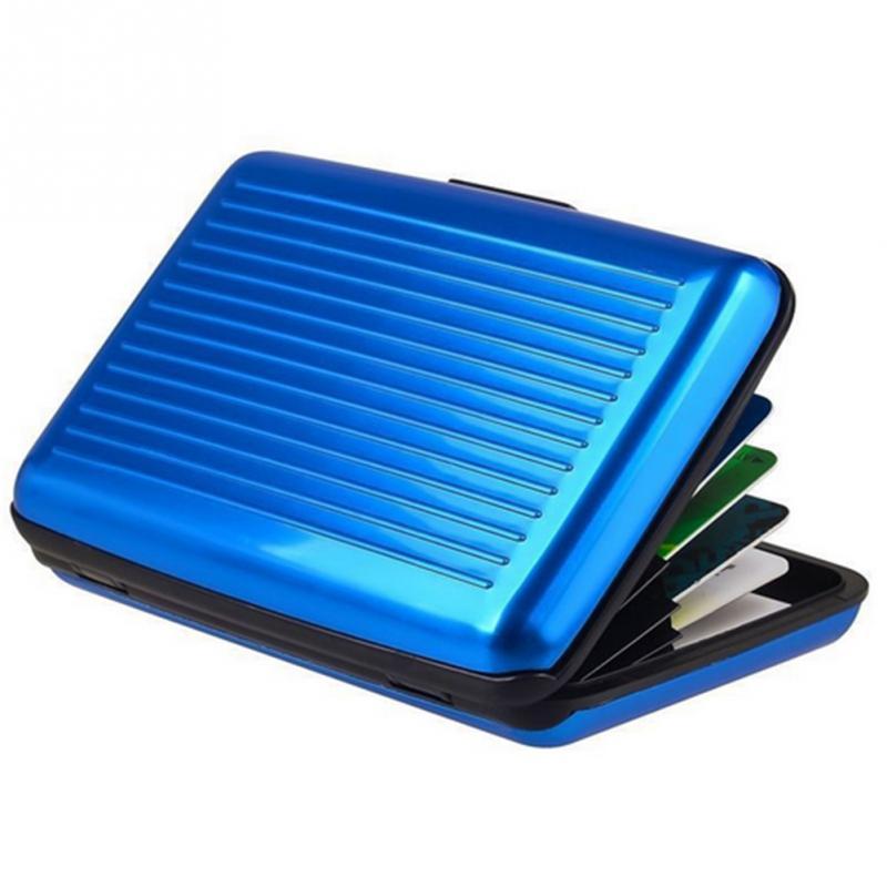 Waterproof Anti-magnetic Metal Purse Pocket Case ID Credit Card Wallet Holder