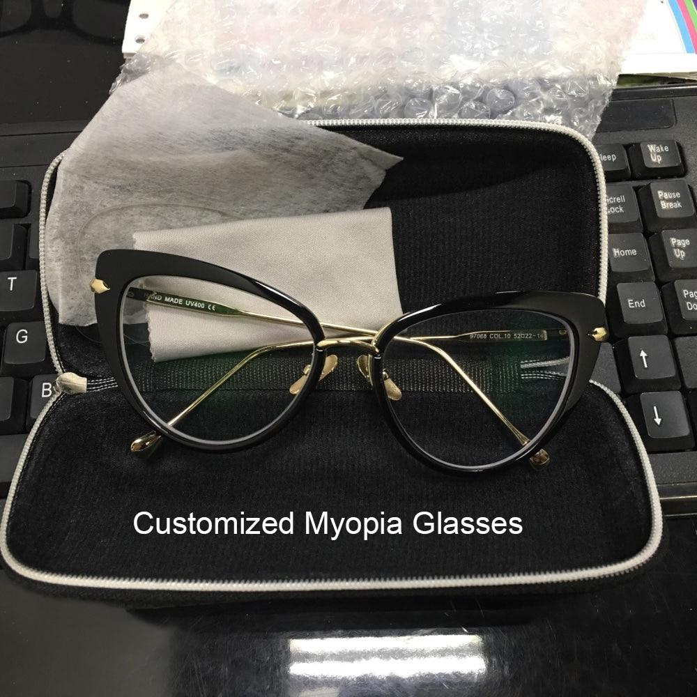 Retro llanura lente ojo de gato Gafas Marcos marca diseñador miopía ...