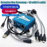 100% original 2020 nova caixa de polvo/octoplus caixa para sam + lg 5 cabos para sam desbloquear flash reparação do telefone móvel