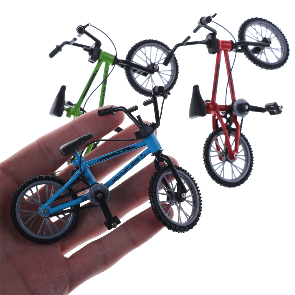 Alloy Miniature Mini Bike Model Mountain Bike Finger Toy Red and Blue Colors