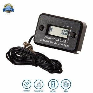 Waterproof Digital Diesel Gas Engine Hour Meter Tachometer for generator Excavator UTV tractor ditch cleaner agrosprayer HM012C(China)