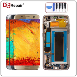 S7 edge lcd For SAMSUNG GALAXY S7 Edge lcd SM-G935F LCD Screen Display Touch Digitizer Replacement With Frame s7 edge display