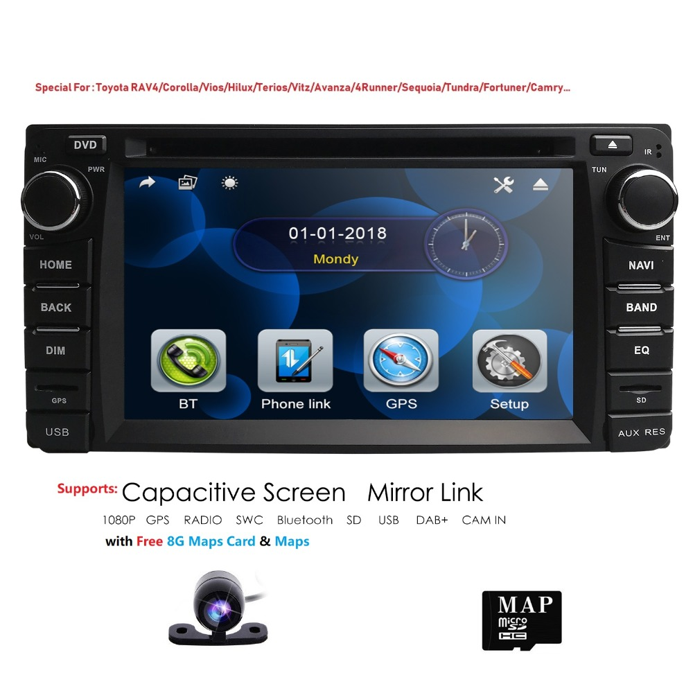 Hizpo GPS Navigation 6.2 Inch 2 din car radio gps Car DVD Player For Toyota/Corolla Old Series Bluetooth GPS Radio SWC rear camHizpo GPS Navigation 6.2 Inch 2 din car radio gps Car DVD Player For Toyota/Corolla Old Series Bluetooth GPS Radio SWC rear cam