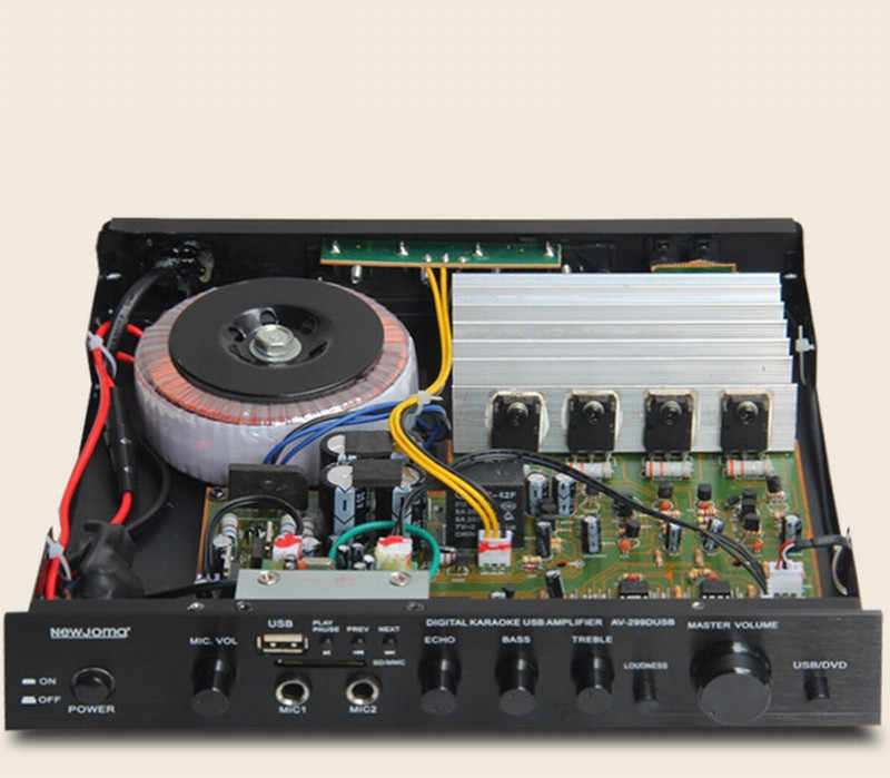 AV-299D 120 W 4 Ohm 2.0 channel HIFI demam 1941/5198 Daya tabung rumah Bluetooth audio amplifier dengan USB SD MP3 mikrofon bermain