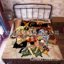120*200cm Japan Anime ONE PIECE Flannel Blanket on Bed Mantas Bath Plush Towel Air Condition Sleep Cover bedding