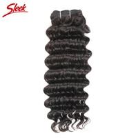 Sleek Hair Company Malaysian Deep Wave Non Remy Hair Unprocessed Human Hair Weave Bundles Deal 100g/bundle Free Shipping 1pc/lot