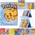 Pokemon ir pikachu dos desenhos animados caso carteira de couro tampa do suporte para apple ipad mini 2 com retina display me279ll/um 7.9-polegadas