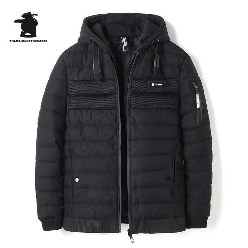 2017 New Winter Men's Parka Designer Fashion Hooded Plus Size Stand Collar Loose Casual Thick Short Jacket Coat Men CY9F8850 akslxdmmd winter women jacket 2017 new plus size thick short coat fashion printed letters hooded short jacket parka mujer lh1110
