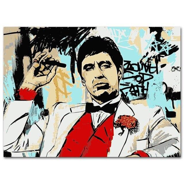 Плакат гобелен Аль Пачино Крестный отец материал шелк