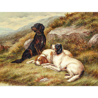 High Quality Canvas Printing High Definition Dogs Play Oil Painting Paintings Wall Art For Living Room