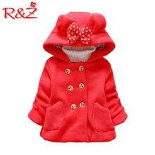 041fda9bda6 R   Z de la chaqueta de los niños 2019 primavera y otoño nuevas niñas  abrigo de lana gruesa con capucha camisa pajarita bolsillo.