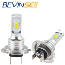 NICECNC 100W Pair 6500K White LED Bulb Motorcycle H7 Headlight font b Lamp b font For