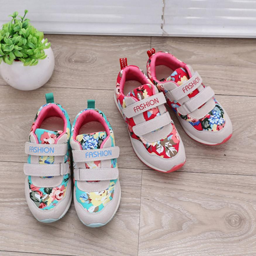 MUQGEW Childrens Clothes Children Kids Baby Boys&Girls Letter Flower Print Skate Shoes Sneakers Shoes