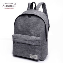 Aosbos Canvas Backpack Women Men Large Capacity Laptop Backpack Student School Bags for Teenagers Travel Shoulder Bag Mochila
