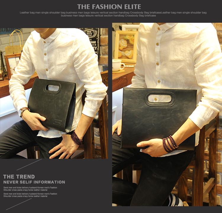 Business Casual Men Leather Designer Handbag High Quality Male Wallet Famous Brand Men's Large Capacity Clutch Bag Brown black 72
