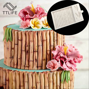 TTLIFE Bamboo Grain Silicone Mold for Cake Decorations Mocha Chocolate Bakeware Fondant Jelly Mould Ice Cube Tray DIY Baking Pan