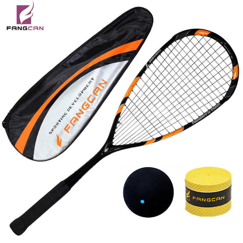 2 pcs FANGCAN Darkness 7 Squash Racket 100% Carbon T700 Ultralight Squash Racket With String and Cover