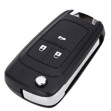 E48 Foldable Car Remote Key Holder Case Shell 3-button Protecting Cover Suitable for Opel with Rubber Texture Material
