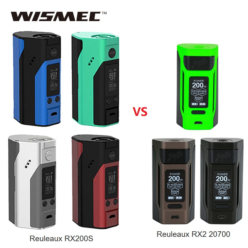 D'origine Wismec Reuleaux RX200S TC 200 W MOD vs Reuleaux RX2 20700 boîte MOD puissance par 18650 batterie