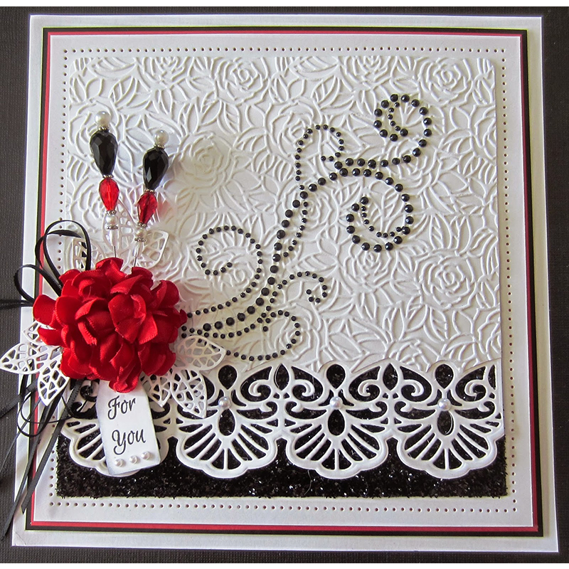 Cutting Dies Scrapbooking Card Embossing Cuts Pattern Lace Decoration Frame DIY