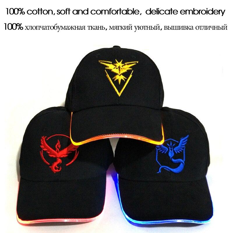 LED Pokemon GO Бейсбол қалпақшалары 100% - Киімге арналған аксессуарлар - фото 3