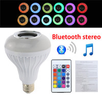 1Pcs E27 B22 E26 RGB Bulb Lamp Wireless Bluetooth Speaker Bulb Light Lamp With Wireless Music