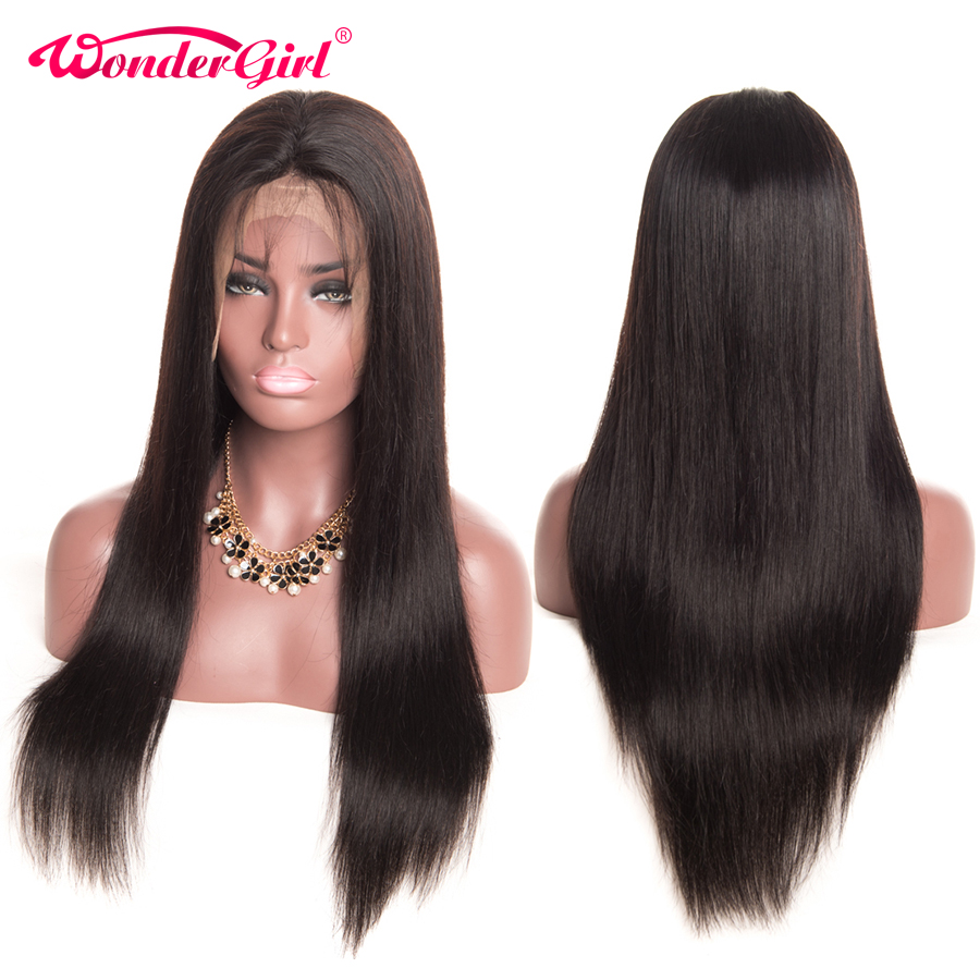13x4 Remy 180 density Peruvian Straight Lace Wig Glueless Lace Front Human Hair Wigs Pre Plucked