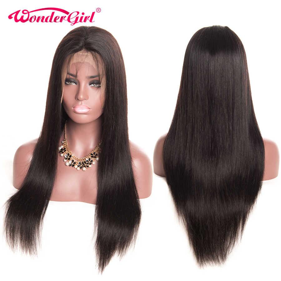 13x4 Remy 180 плотность перуанские прямые волосы парик бесклеевая кружевная Передняя человеческие волосы парики предварительно сорвал для женщин черный чудо-девушка