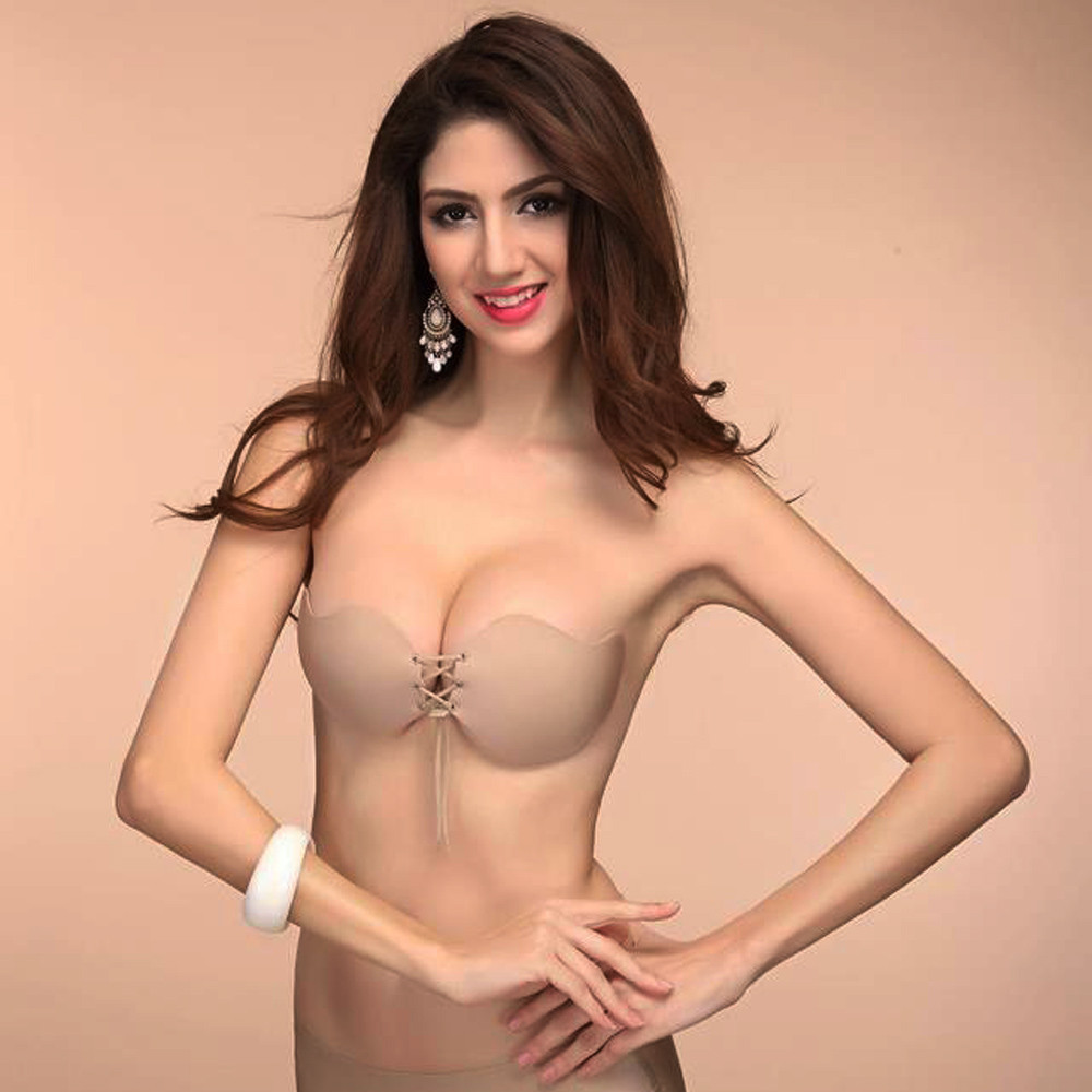 1984e9b1ce KLV Women Sexy Strapless Instant Breast Lift Invisible Silicone Push Up  Mango Bra Invisible Chest Paste Breast Petals-in Maternity   Nursing Bras  from ...