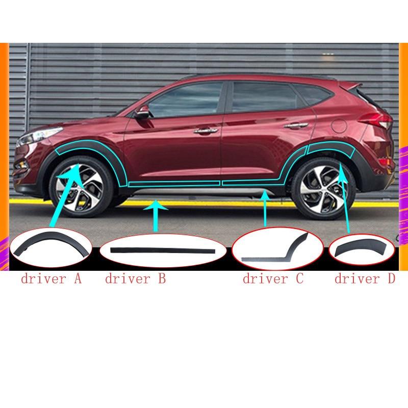 Lsrtw2017 Abs Portello di Automobile Bordo Scudo Volante per Hyundai Tucson 2015 2016 2017 2018