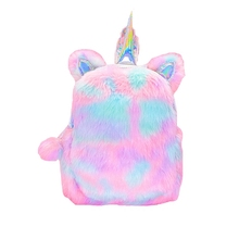 Mini Backpack Women Cute Kawaii Unicorn Anti Theft Bagpack for Teenager Girls Travel School PU Plush Laser Back Pack Bag Mochila mini backpack women genuine leather women s anti theft bagpack vintage back pack for teenager girls travel school phone hand bag