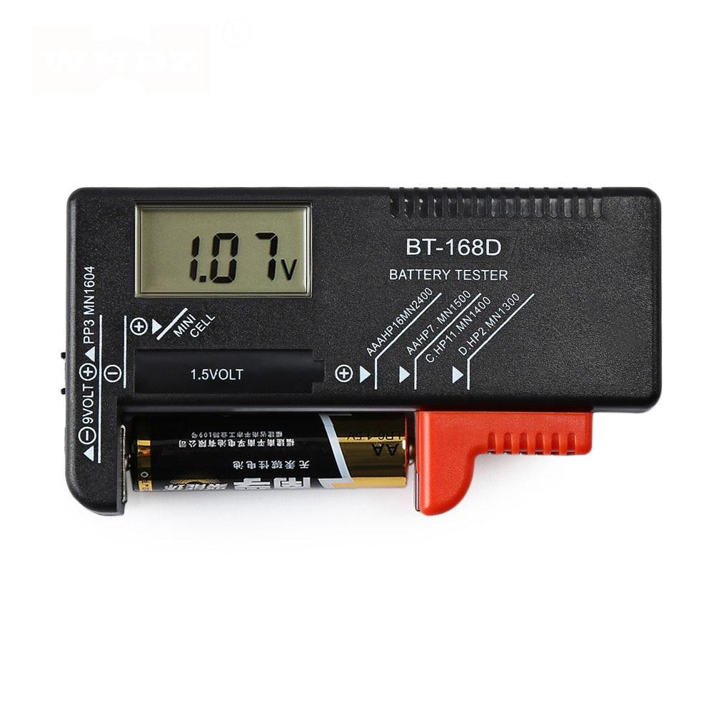 BT-168D Portable Digital Battery Tester Black Digital Battery Power Measuring Instrument The Function Battery Tester