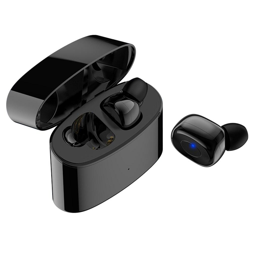 BT 5.0 Wireless Earphone Waterproof T6S Sport Earbuds with Portable Mini 500mAh Charging Bin TWS HD Sound Music Call Earplug