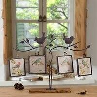 Metal Bird Iron Photo Frame, Square Bird, Photo Frame, Wedding Photo, Children Photo Frame
