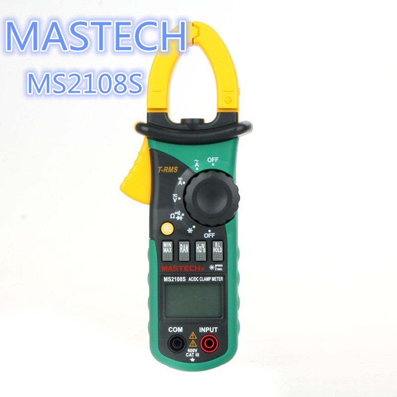 1pcs MASTECH MS2108S True RMS Digital Multimeter Capacitance Frequency Inrush Current Tester AC DC Current Clamp Meter mastech my63 digital multimeter dmm w capacitance frequency
