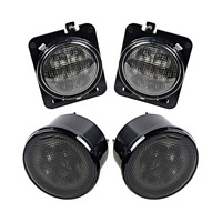1 Pair Car LED Side Marker Lights Smoke Lens Yellow Light Color Turning Signal Lamp for Jeep Wrangler