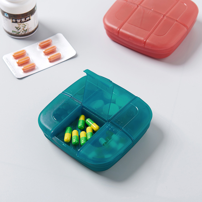 Portable translucent drug collection travel medicine bag distribution package Holder Storage Container Case Pill Box Splitters in Storage Bags from Home Garden