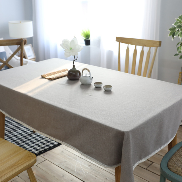 New Product Pure West Restaurant Cotton Table Cloth Anese Style Simple Modern Cafe